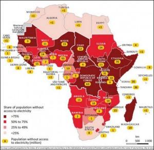 accesso all'energia elettrica in Africa